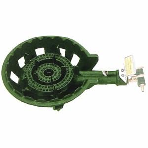 伊藤産業 鋳物コンロ 2連コンロ(種火付)LPガス※メーカー直送品 KP-20T
