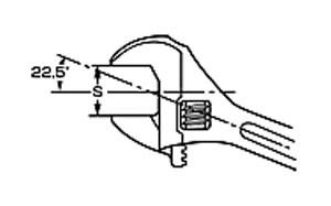 エビ モンキレンチ(強力型) 250mm M250