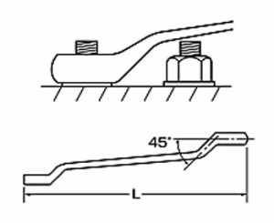 エビ 両口めがねレンチ45°長形 19×22mm MW1922