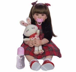 リボーンドール リアル 赤ちゃん人形 トドラードール ベビードール 60cm 高級 かわいい 洋服セット 女の子 ba002