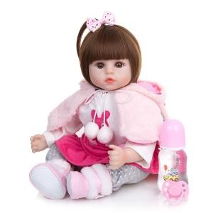 リボーンドール リアル 赤ちゃん人形 トドラードール ベビードール 48cm 高級 かわいい 洋服セット 女の子 ba005