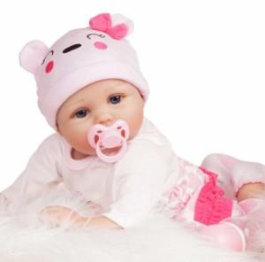 リボーンドール リアル 赤ちゃん人形 トドラードール ベビードール 55cm 着せ替え可能 高級 かわいい 洋服セット 女の子 ba006