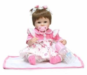 リボーンドール リアル 赤ちゃん人形 トドラードール ベビードール 40cm 高級 かわいい 洋服セット 女の子 ba011