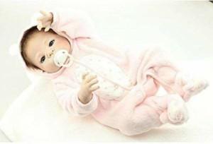 フルシリコン リボーンドール リアル 赤ちゃん人形 トドラードール ベビードール 43cm 高級 かわいい お風呂可能 女の子 ba014