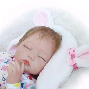 リボーンドール リアル 赤ちゃん人形 トドラードール ベビードール 55cm 高級 かわいい 洋服セット 哺乳瓶・おしゃぶり付き