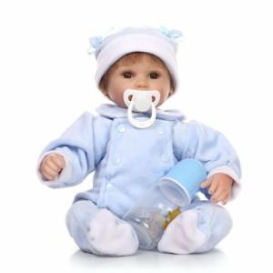 リボーンドール リアル 赤ちゃん人形 トドラードール ベビードール 42cm 高級 かわいい 衣装・おしゃぶり・哺乳瓶付き お目