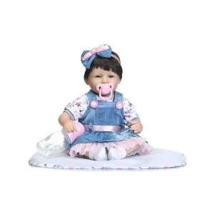 リボーンドール リアル 赤ちゃん人形 トドラードール ベビードール 42cm 高級 かわいい 衣装・おしゃぶり・哺乳瓶付き 笑顔 ba32