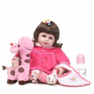 ぬいぐるみ付 リボーンドール リアル 赤ちゃん人形 トドラードール ベビードール 50cm 高級 かわいい 衣装・哺乳瓶・おしゃ