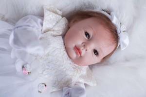 リボーンドール リアル 赤ちゃん人形 トドラードール ベビードール 55cm 高級 かわいい 衣装付き 天使 ba43