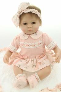 リボーンドール リアル 赤ちゃん人形 トドラードール ベビードール 45cm 高級 かわいい 衣装付 ドレス 手作り ハンドメイド ba45