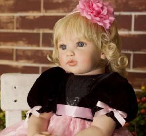 リボーンドール リアル 赤ちゃん人形 トドラードール ベビードール 55cm 高級 かわいい 金髪 女の子 プリンセス ロングヘ