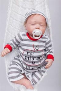 リボーンドール リアル 赤ちゃん人形 トドラードール ベビードール 50cm 高級 かわいい 衣装・おしゃぶり付き クローズアイ ba50