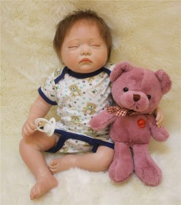 ぬいぐるみ付 リボーンドール リアル 赤ちゃん人形 トドラードール ベビードール 50cm 高級 かわいい 衣装・おしゃぶり付き ba51