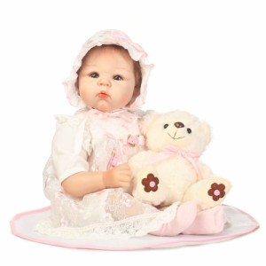 ぬいぐるみ付 リボーンドール リアル 赤ちゃん人形 トドラードール ベビードール 55cm 高級 かわいい 衣装と哺乳瓶・おしゃ