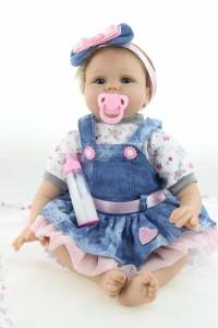 リボーンドール リアル 赤ちゃん人形 トドラードール ベビードール 55cm 高級 かわいい 衣装付き お洋服セット ba65