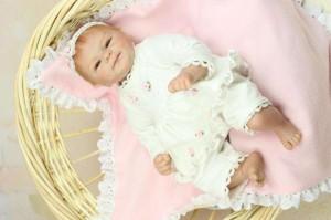 リボーンドール リアル 赤ちゃん人形 トドラードール ベビードール 45cm 高級 かわいい 衣装・おしゃぶり・哺乳瓶付き にっこり ba67