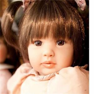 リボーンドール ボブヘア 2つ結び女の子 プリンセスドール トドラー 赤ちゃん人形 ベビードール 人形 衣装付き AT094