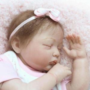 リボーンドール リアル 赤ちゃん人形 トドラードール ベビードール 55cm 高級 かわいい 衣装付き クローズアイ ba78