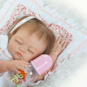 フルシリコン 入浴可 リボーンドール リアル 赤ちゃん人形 トドラードール ベビードール 50cm 高級 かわいい 衣装付き ba80