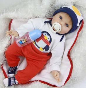 リボーンドール リアル 赤ちゃん人形 トドラードール ベビードール 55cm 高級 かわいい 衣装・おしゃぶり・哺乳瓶付き ba82