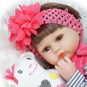 リボーンドール リアル 赤ちゃん人形 トドラードール ベビードール 40cm 高級 かわいい 衣装付き 女の子 ba89