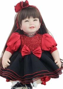 リボーンドール リアル 赤ちゃん人形 トドラードール ベビードール 55cm 高級 かわいい 衣装付き かわいいドレス ba92