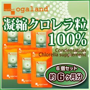 凝縮クロレラ粒100%(6個セット・約6ヶ月分)3150円以上送料無料 植物性たんぱく質 ビタミン ミネラル 野菜の不足 サプリ クロロフィル