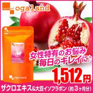 ■即納■お徳用ザクロエキス&大豆イソフラボン(約3ヶ月分)3150円以上送料無料 サプリ サプリメント 健康食品