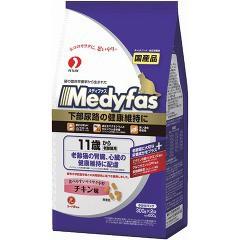 メディファス 11歳から 老齢猫用 チキン味(300g*2袋入)(発送可能時期:3-7日(通常))[キャットフード(ドライフード)]
