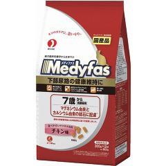 メディファス 7歳から 高齢猫用 チキン味(300g*2袋入)(発送可能時期:3-7日(通常))[キャットフード(ドライフード)]