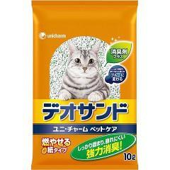 猫砂 燃やせるデオサンド(10L)(発送可能時期:3-7日(通常))[猫砂・猫トイレ用品]