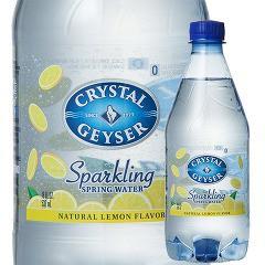 クリスタルガイザー スパークリング レモン (無果汁・炭酸水)( 532mL*24本入)(発送可能時期:1-3日(通常))[海外ミネラルウォーター]