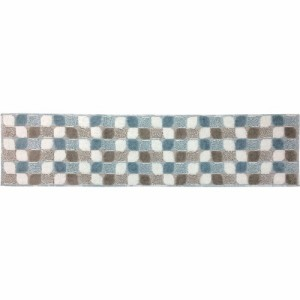 インテリアマット リベルタ ブルー 45*180(1枚入)(発送可能時期:1週間-10日(通常))[キッチンマット]