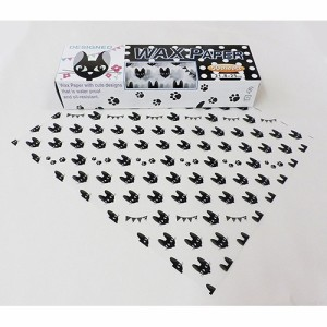 シーズン デザインWAXペーパー 黒猫パーティ PG-791(50枚入)(発送可能時期:3-7日(通常))[キッチン用品 その他]