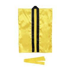 サテンハッピ 袖なし 帯付 金 L(1枚入)(発送可能時期:1週間-10日(通常))[ベビー玩具・赤ちゃんおもちゃ その他]