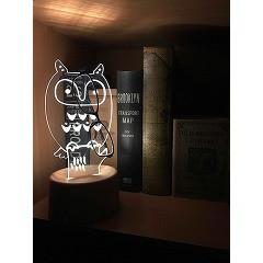 LED アクリスタ フクロウ ART-LAS-02(1台)(発送可能時期:3-7日(通常))[ライト]