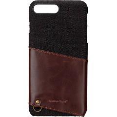iPhone7 PLus用 カードポケット付き ハードケース ブラック PG-16LCA04BK(1コ入)(発送可能時期:1週間-10日(通常))[ケース・ジャケット]