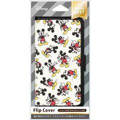 ディズニー iPhoneX用 フリップカバー 縁取り ミッキーマウス PG-DFP275MKY(1コ入)(発送可能時期:1週間-10日(通常))[ケース・ジャケット]
