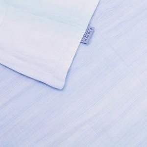 東京西川 肌掛け布団 シングル 麻混 さらさら触感 洗える 日本製 ブルー(1枚入)(発送可能時期:3-5日(通常))[掛け布団]