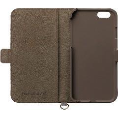 iPhone7用 コインポケット付き フリップカバー ブラウン PG-16MFP38BR(1コ入)(発送可能時期:通常3-5日で発送予定)[ケース・ジャケット]