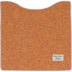 パリーパリー ヴィンテージふけるトイレマット オレンジ 約60*60cm(1枚入)(発送可能時期:通常3-5日で発送予定)[トイレマット]