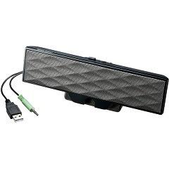 サンワサプライ USB電源サウンドバースピーカー ブラック MM-SPL11UBK(1台)(発送可能時期:3-7日(通常))[スピーカー]