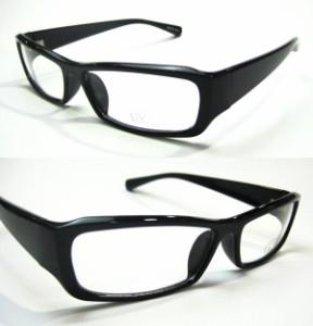 bm18◇伊達メガネ デザインサングラス【25015A】ブラックフレーム