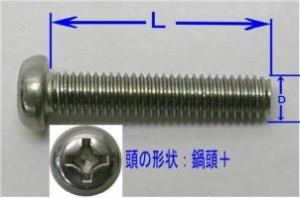 ステンレス小ねじセット8(D)×40(L)mm(2セット入)