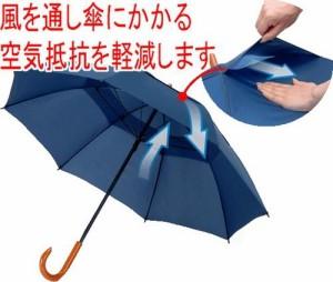風に強く骨が痛みにくい「耐風傘」(たいふうがさ)