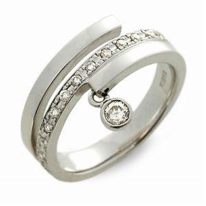 送料無料 T-grand ホワイトゴールド リング 指輪 ダイヤモンド ギフト ラッピング 20代 30代 彼女 レディース 女性 誕生日 記念日 プレゼ