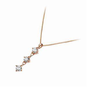 送料無料 Jアクセサリー ピンクゴールド ネックレス ダイヤモンド ギフト ラッピング 20代 30代 彼女 レディース 女性 誕生日 記念日 プ