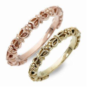 送料無料 Anne Bonny ピンクゴールド 婚約指輪 結婚指輪 エンゲージリング ペアリング ギフト ラッピング 20代 30代 彼女 彼氏 レディー