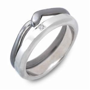 送料無料 NAISSANCE シルバー リング 指輪 ダイヤモンド ギフト ラッピング 20代 30代 彼氏 メンズ 誕生日 記念日 プレゼント ネサンス