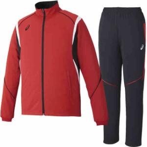 アシックス トレーニングジャケット&ロングパンツ上下セット(レッド×ブラックレッド) XAT143-23-XAT243-9023